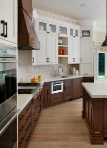 two toned kitchen
