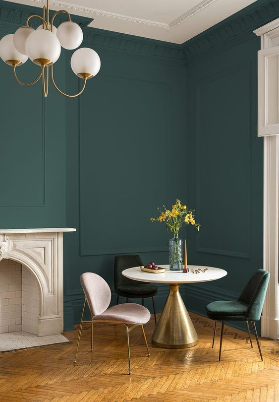 hunter green wall paint
