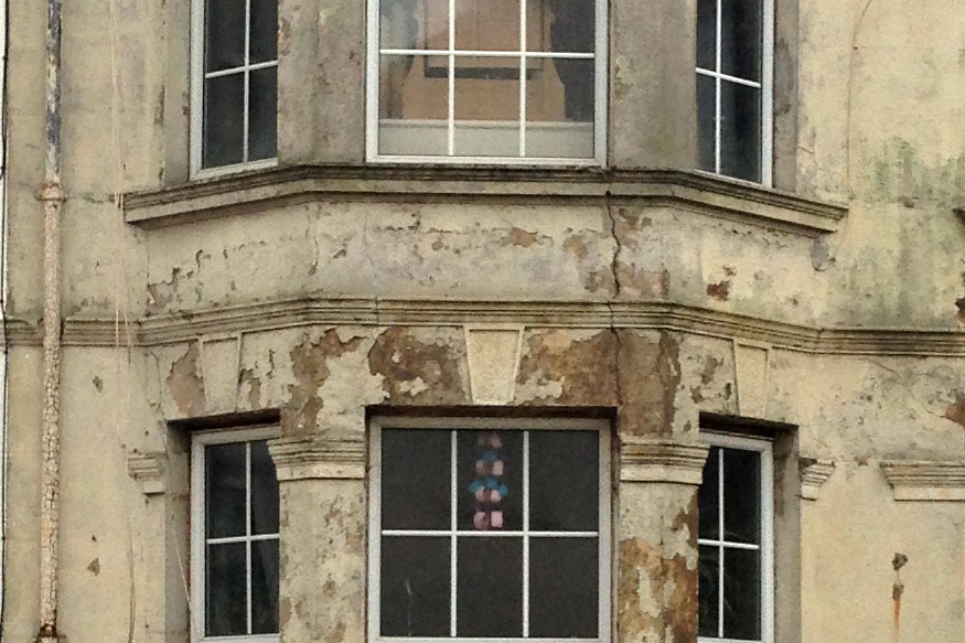 damp house exterior mold